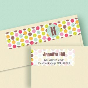 Polka Dots Connect Wrap Diecut Address Labels