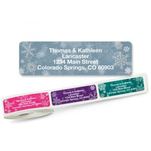 Snowflake Rolled Return Address Labels