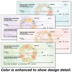 Wreaths Personal Checks