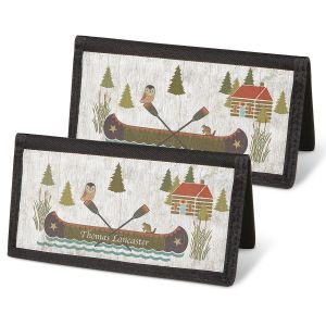 Woodland Lodge Personal Checkbook Covers