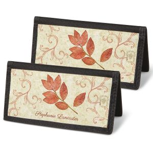 Fallen Leaves Personal Checkbook Covers
