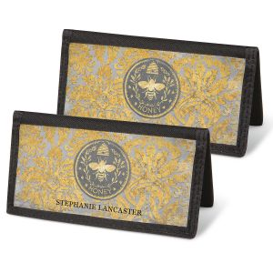Honey Bee Personal Checkbook Covers