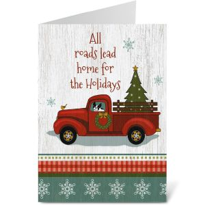 Holiday Truck Note Card Size Christmas Cards