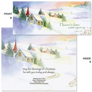 Heavens Dawn Slimline Holiday Cards