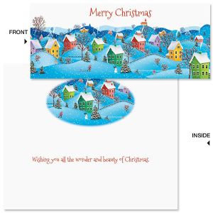 Snow Village Slimline Holiday Cards