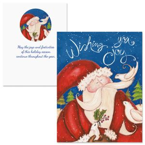 Wishing Joy Note Card Size Christmas Cards