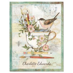 Teacup Personalized Note Cards