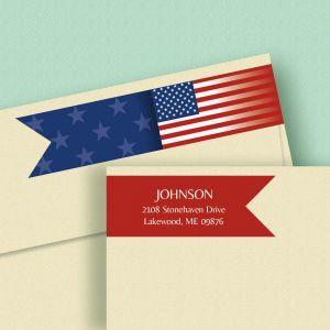 Flag Connect Wrap Diecut Address Labels