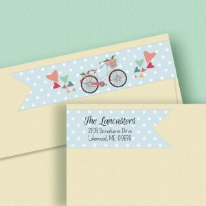 Bicycle Connect Wrap Diecut Address Labels  (4 Designs)
