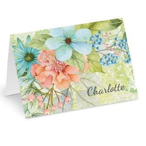 Sentiment Garden Personalized Note Cards