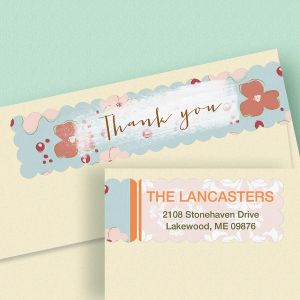 Thank You Connect Wrap Diecut Address Labels