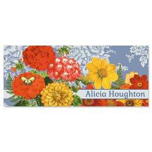 Sunflower Chambray Personalized Slimline Note Cards