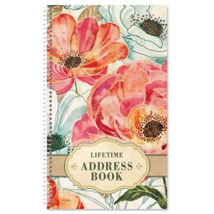 Floral Daydream Lifetime Address Book