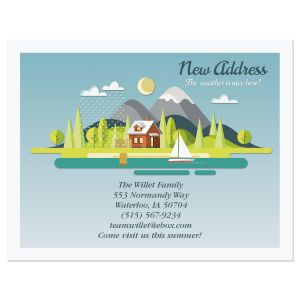 Fair Weather New Address Postcards