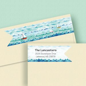 Sail Away Connect Wrap Diecut Address Labels