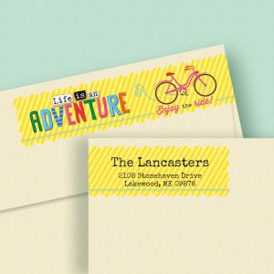 Adventures Connect Wrap Diecut Address Labels