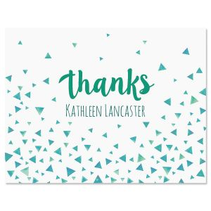 Simple Thanks Personalized Note Cards