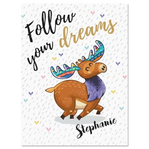 Follow your Dreams Personalized Note Cards