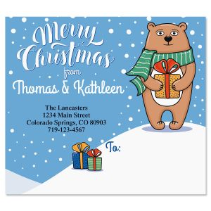 Beary Thoughtful Package Labels