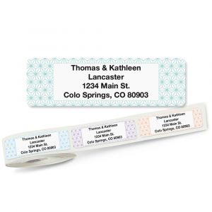 Isometric Rolled Address Labels (5 Designs)