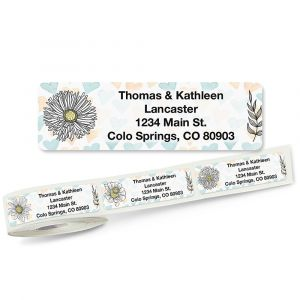 Lovely Flowers Rolled Address Labels