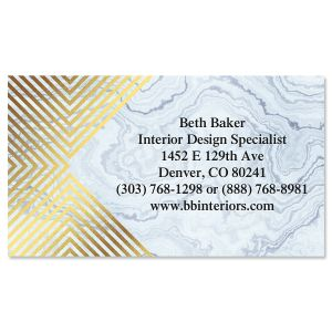 Flashy Foil Business Cards