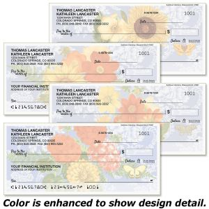 Sunflower Chambray Personal Checks