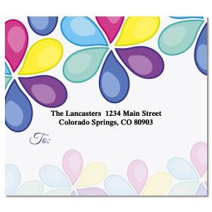 Colorful Flowers Package Labels
