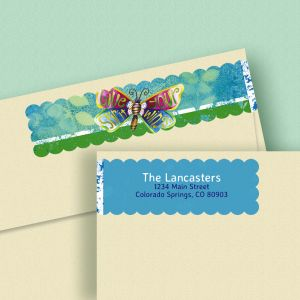 Spirit Wings Connect Wrap Diecut Address Labels (4 Designs)