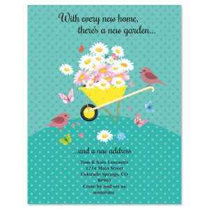 Home & Garden New Address Postcards