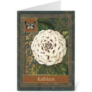 Poetic Garden Personalized Note Cards