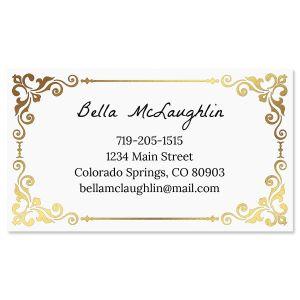 Simple Elegance Foil Business Cards