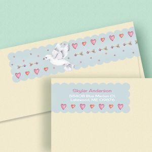 Cupid's Messenger Connect Wrap Diecut Address Labels