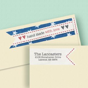 Hand Made with Love Connect Wrap Diecut Address Labels