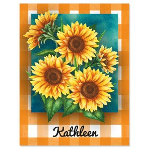 Summer Sunflower Custom Note Cards