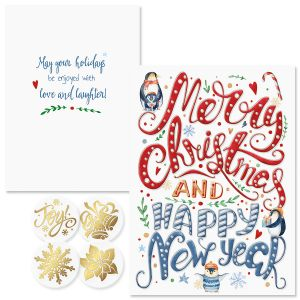 A Holiday Message Foil Christmas Cards