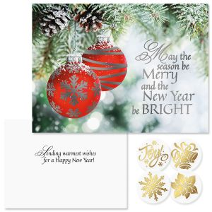 ornament wish foil christmas cards - Christmas Blessings For Cards