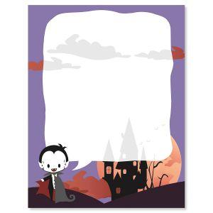 Vampire Halloween Letter Papers