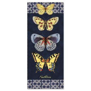 Butterfly Blues Slimline Custom Note Cards