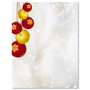 Yuletide Ornaments Christmas Letter Papers