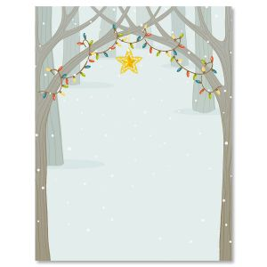 Festive Forest Christmas Letter Papers