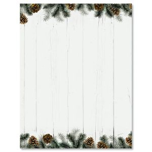 rural festive pine christmas letter papers