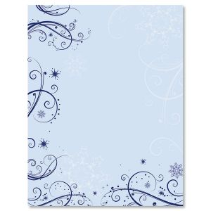 Frosted Glimmer Christmas Letter Papers