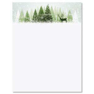 Winter Wonderland Christmas Letter Papers