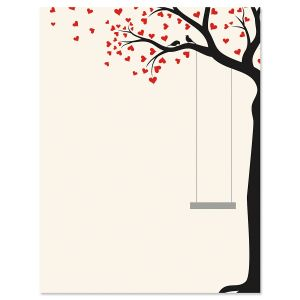 Heart Tree Swing Letter Papers