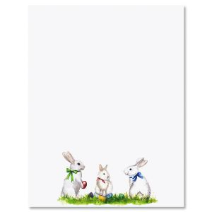 Easter Bunnies Easter Letter Papers