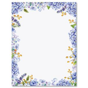 Hydrangea Florals Letter Papers