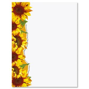 Sunflowers Letter Papers