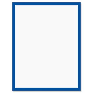 Blue Frame Letter Papers