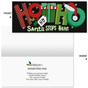 Ho Ho Ho Slimline Holiday Cards